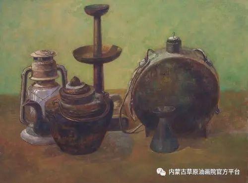 内蒙古草原油画院画家胡乃瑞静物作品 第13张