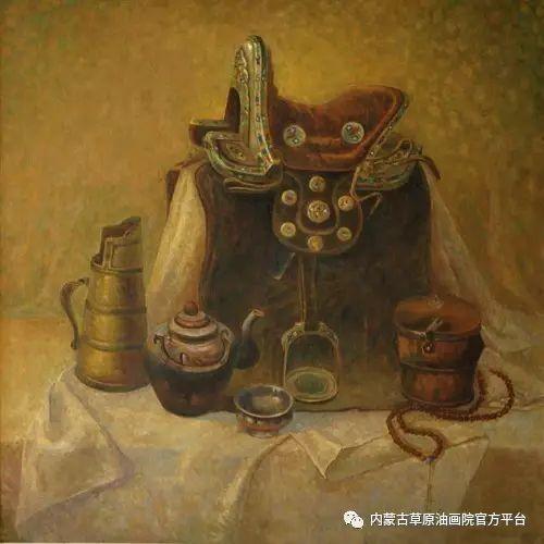 内蒙古草原油画院画家胡乃瑞静物作品 第15张