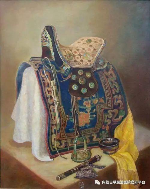 内蒙古草原油画院画家胡乃瑞静物作品 第17张