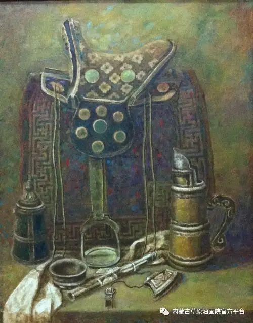 内蒙古草原油画院画家胡乃瑞静物作品 第18张
