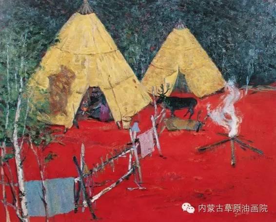 内蒙古草原油画院画家满都呼 第5张