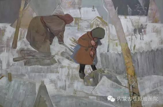 内蒙古草原油画院画家满都呼 第6张
