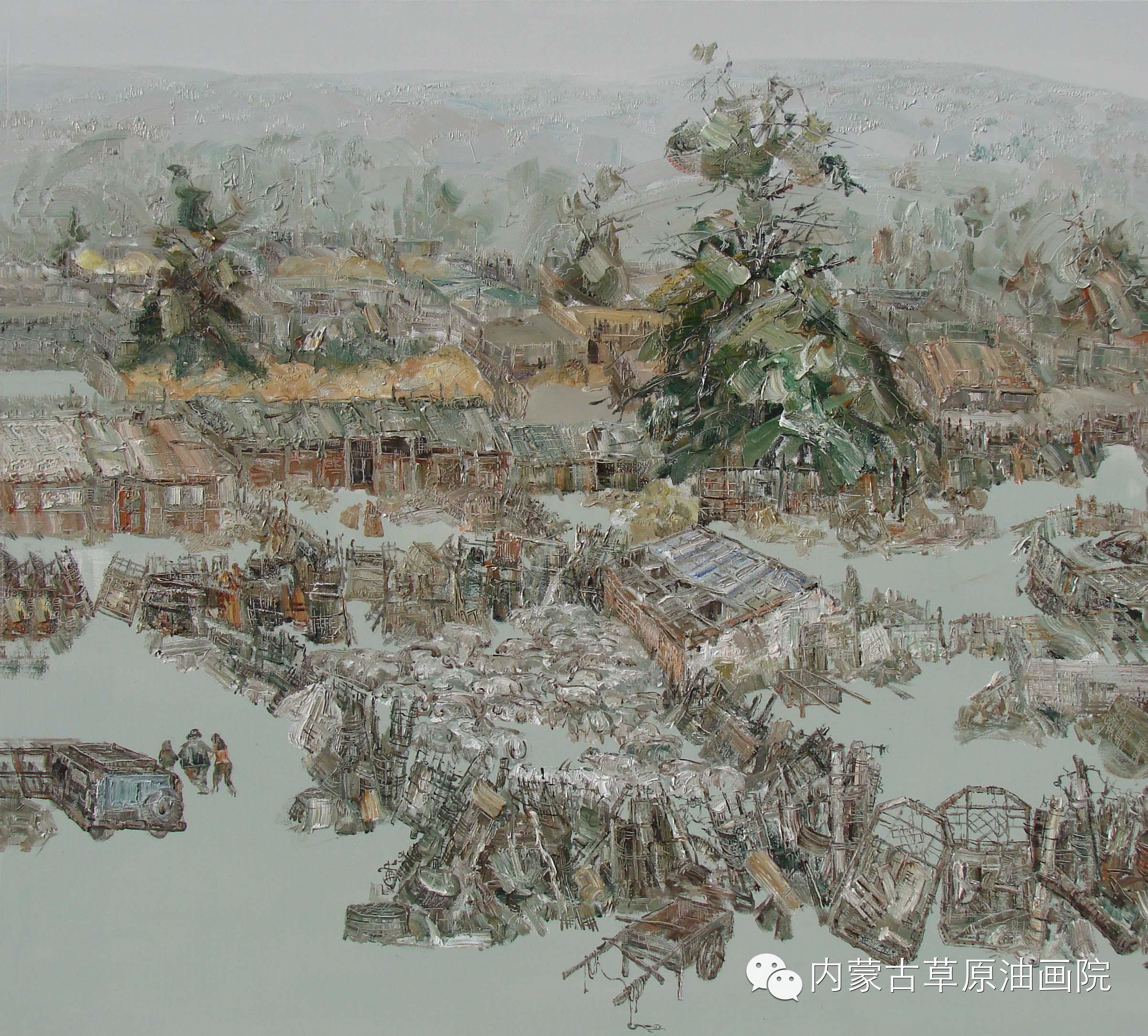 内蒙古草原油画院画家-文胜 第6张
