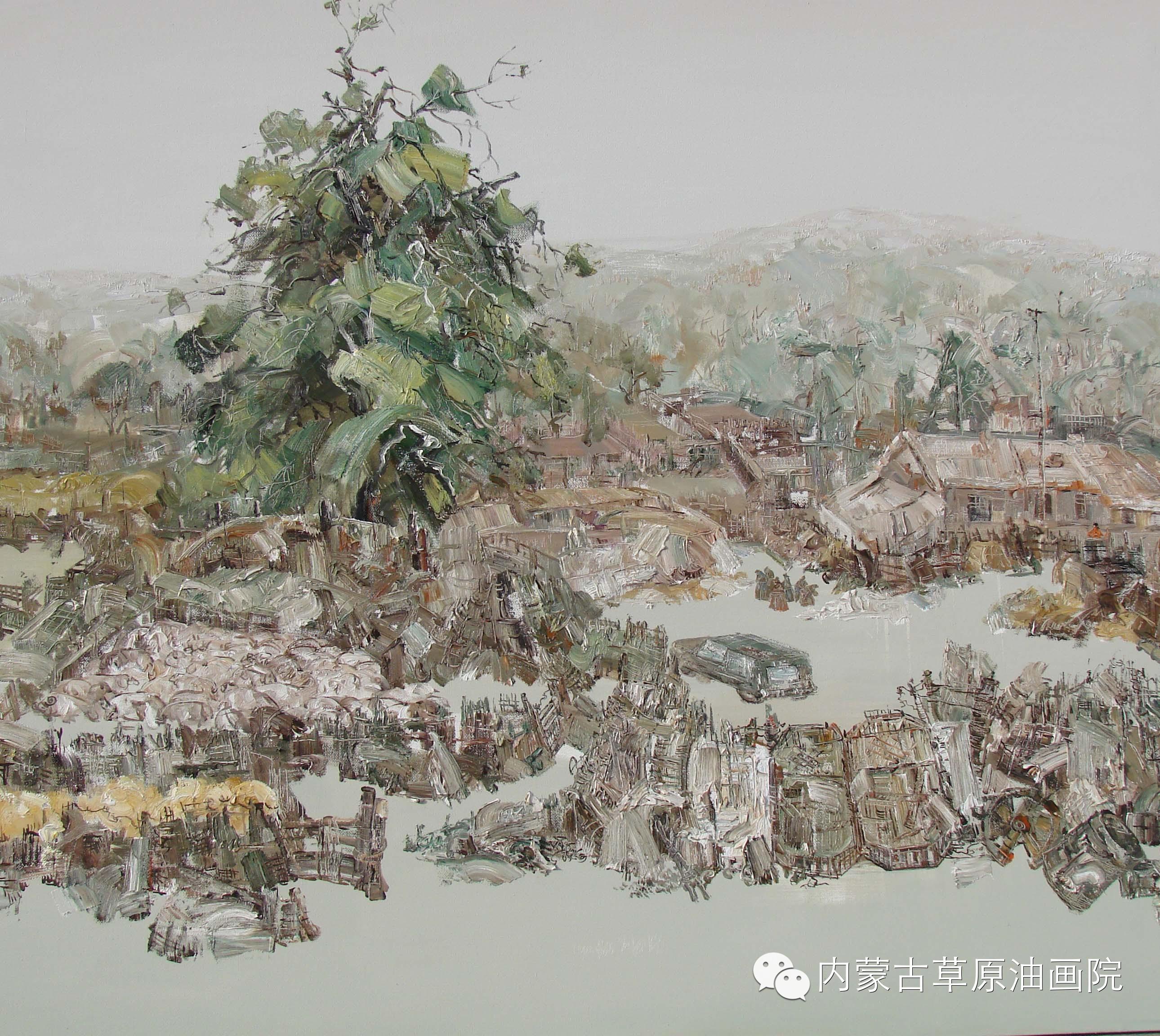 内蒙古草原油画院画家-文胜 第11张