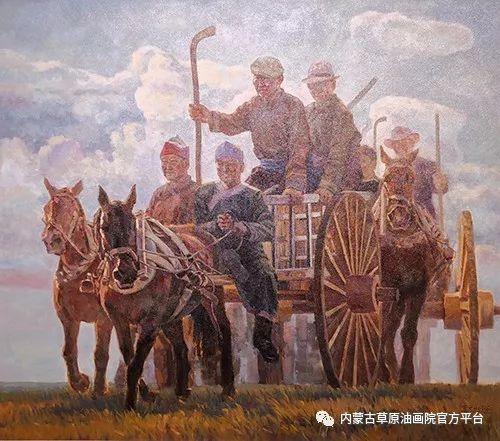 内蒙古草原油画院2017双年展 第10张
