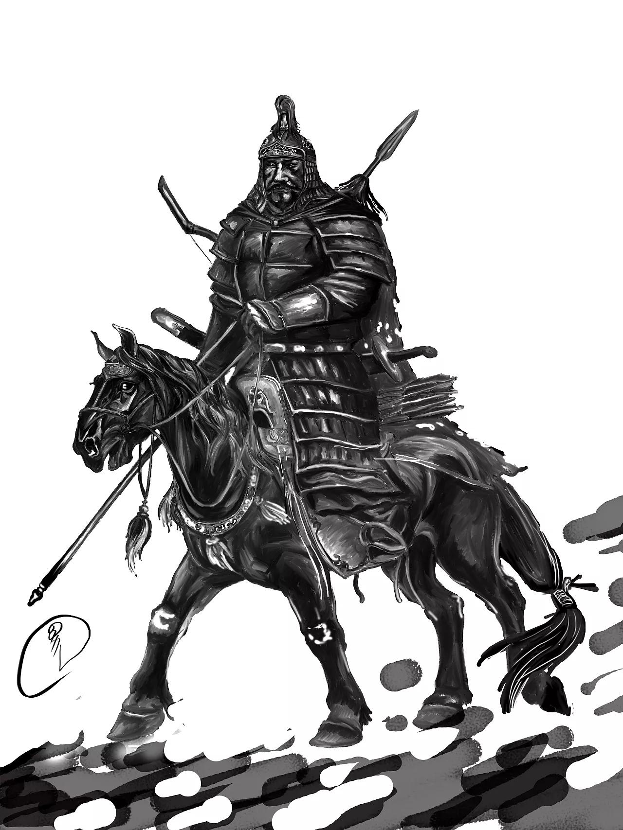 蒙古人物CG插图