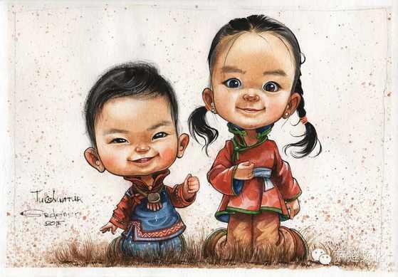 几张蒙古卡通漫画 第1张