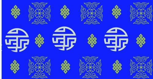 我收集的彩色蒙古族图案40张 第5张