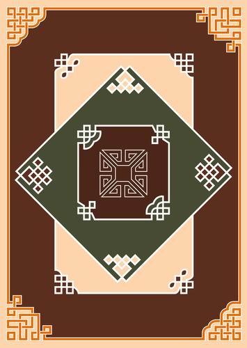 我收集的彩色蒙古族图案40张 第1张