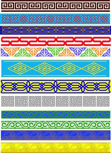 我收集的彩色蒙古族图案40张 第7张