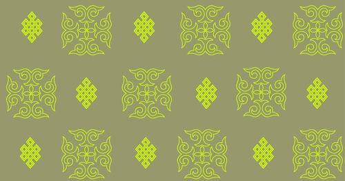 我收集的彩色蒙古族图案40张 第11张