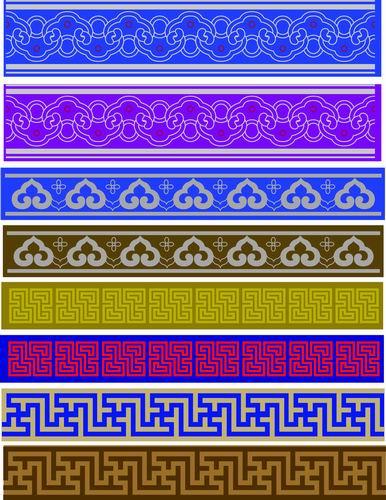我收集的彩色蒙古族图案40张 第8张
