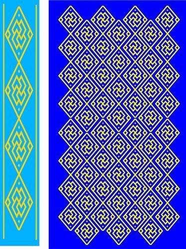 我收集的彩色蒙古族图案40张 第18张