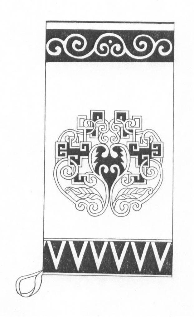 黑白蒙古图案 ,花纹1(25张) 第1张