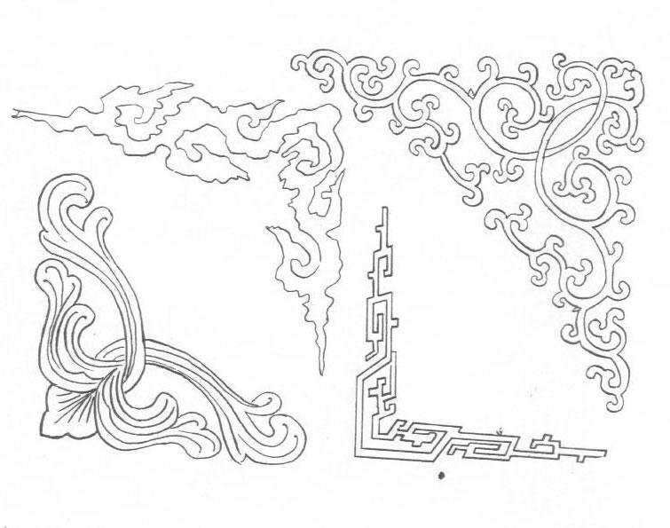 黑白蒙古图案 ,花纹1(25张) 第5张