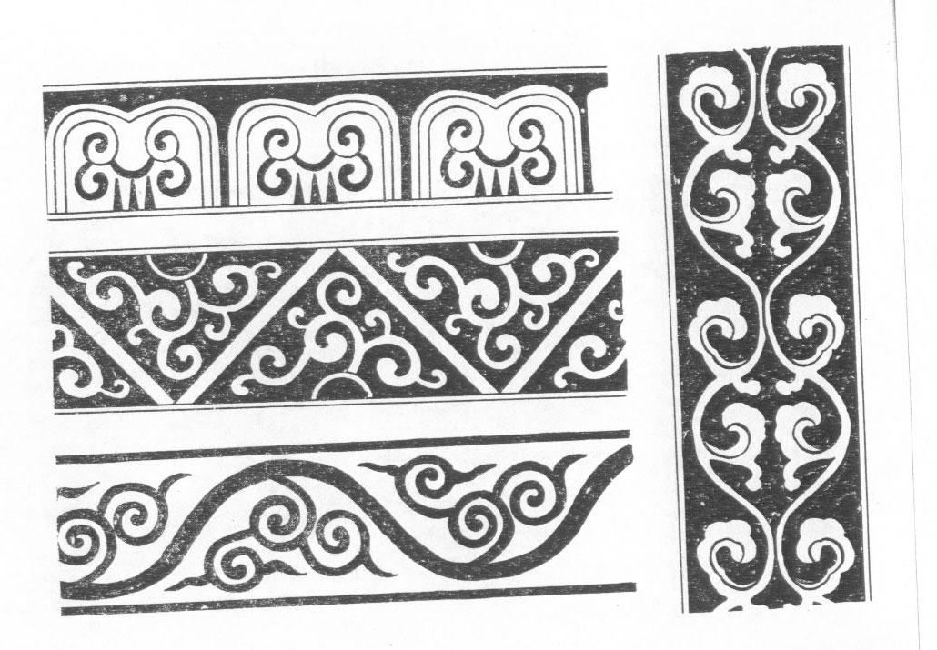 黑白蒙古图案 ,花纹1(25张) 第8张