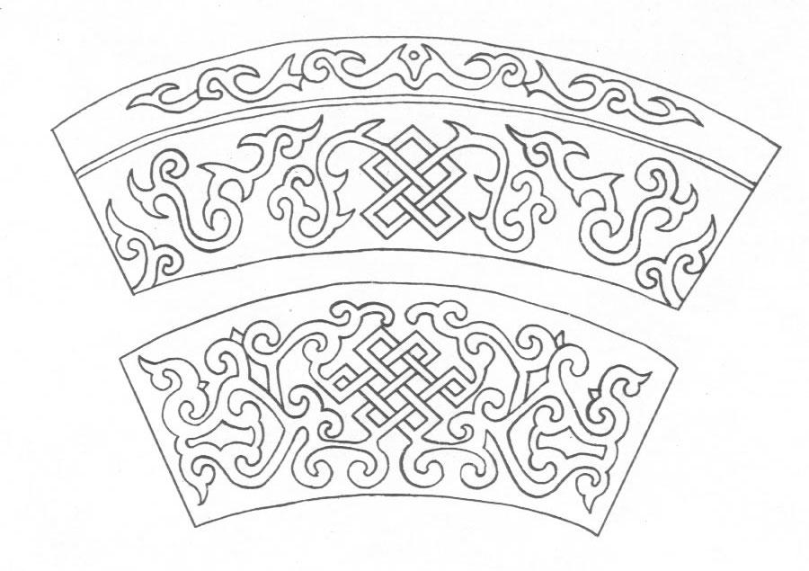 黑白蒙古图案 ,花纹1(25张) 第17张