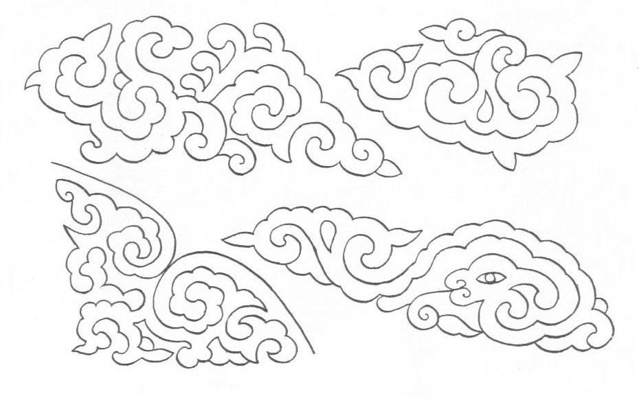 黑白蒙古图案 ,花纹1(25张) 第15张