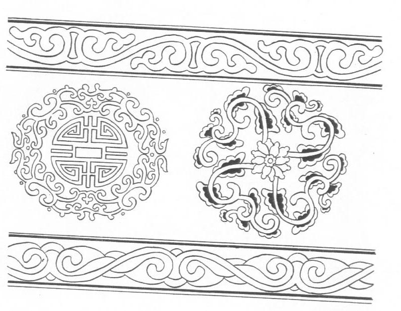 黑白蒙古图案 ,花纹1(25张) 第26张