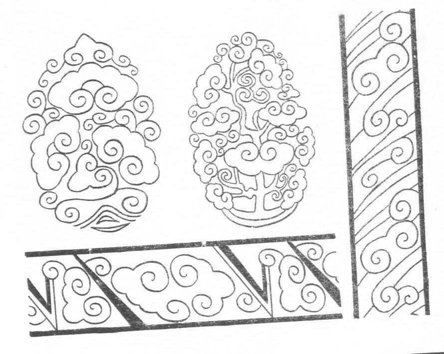 黑白蒙古图案 ,花纹1(25张) 第27张