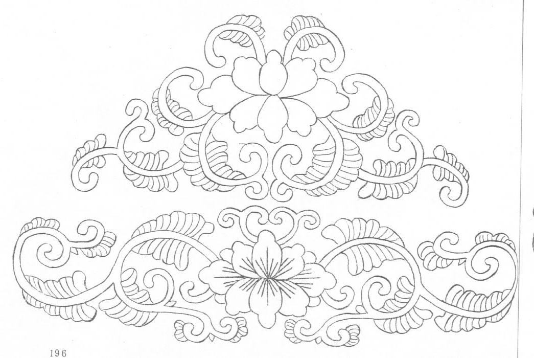 黑白蒙古图案 ,花纹1(25张) 第24张