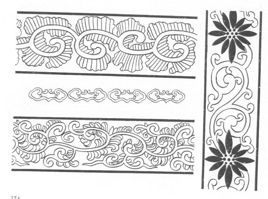 黑白蒙古图案 ,花纹1(25张) 第23张