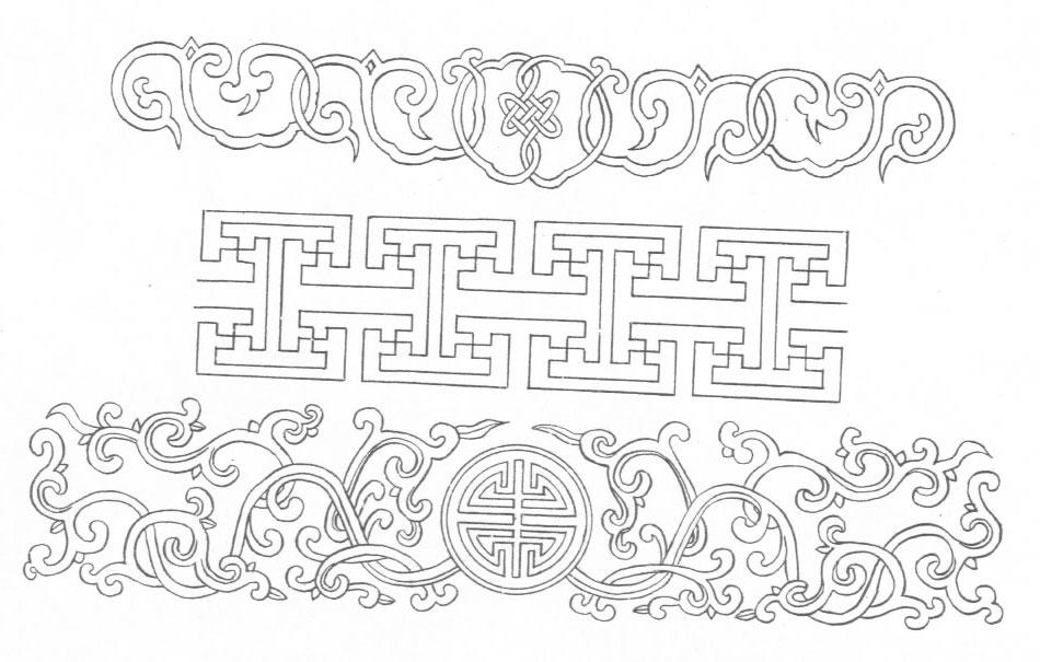 黑白蒙古图案 ,花纹2(25张) 第4张