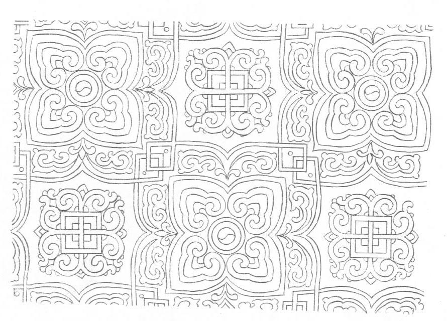 黑白蒙古图案 ,花纹2(25张) 第2张