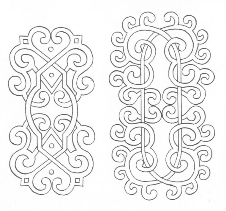 黑白蒙古图案 ,花纹2(25张) 第1张