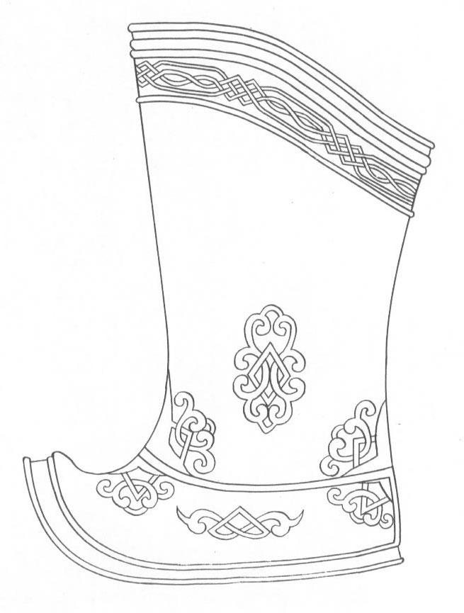 黑白蒙古图案 ,花纹2(25张) 第6张