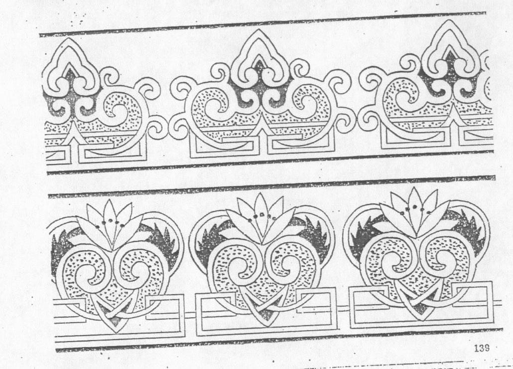 黑白蒙古图案 ,花纹3(20张) 第8张