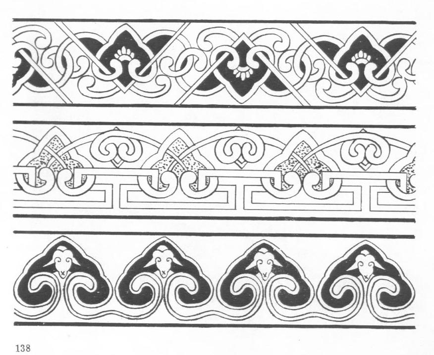 黑白蒙古图案 ,花纹3(20张) 第9张