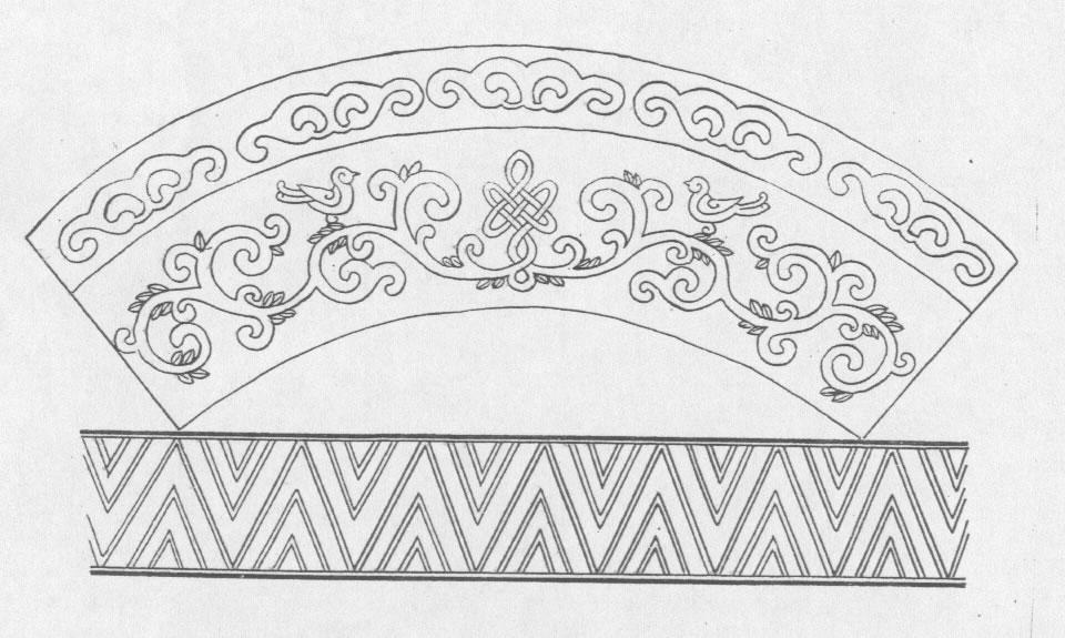 黑白蒙古图案 ,花纹3(20张) 第11张
