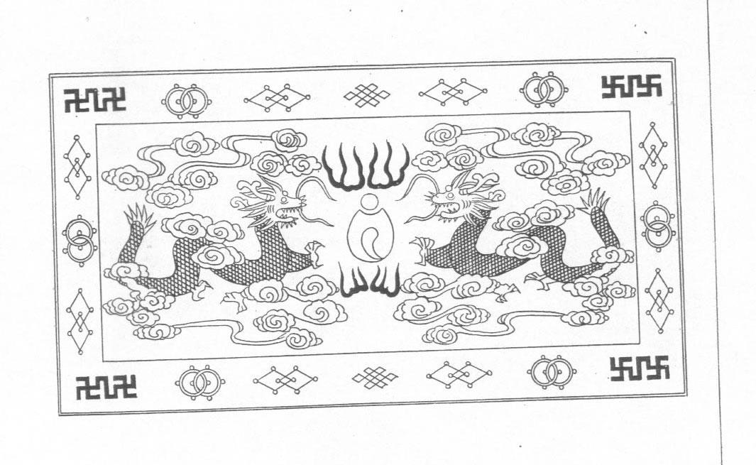 黑白蒙古图案 ,花纹3(20张) 第13张