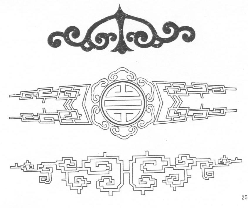 黑白蒙古图案 ,花纹3(20张) 第14张