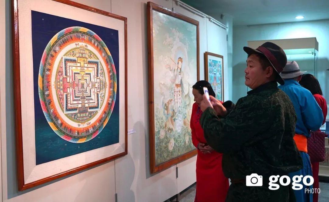 蒙古举办了唐卡文化展览会 第5张