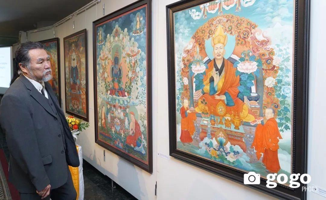 蒙古举办了唐卡文化展览会 第12张