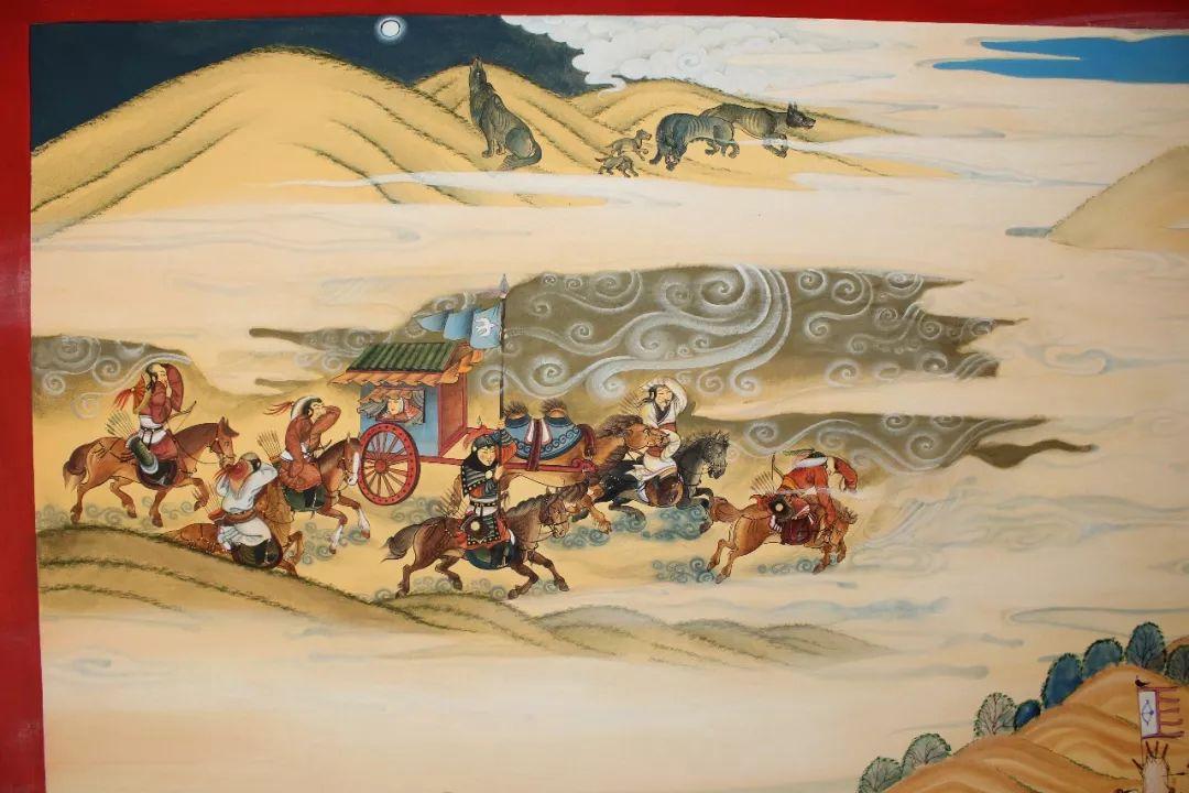 蒙古画《德都蒙古风情》一 第4张