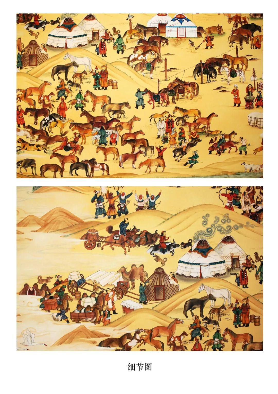蒙古画《德都蒙古风情》一 第5张