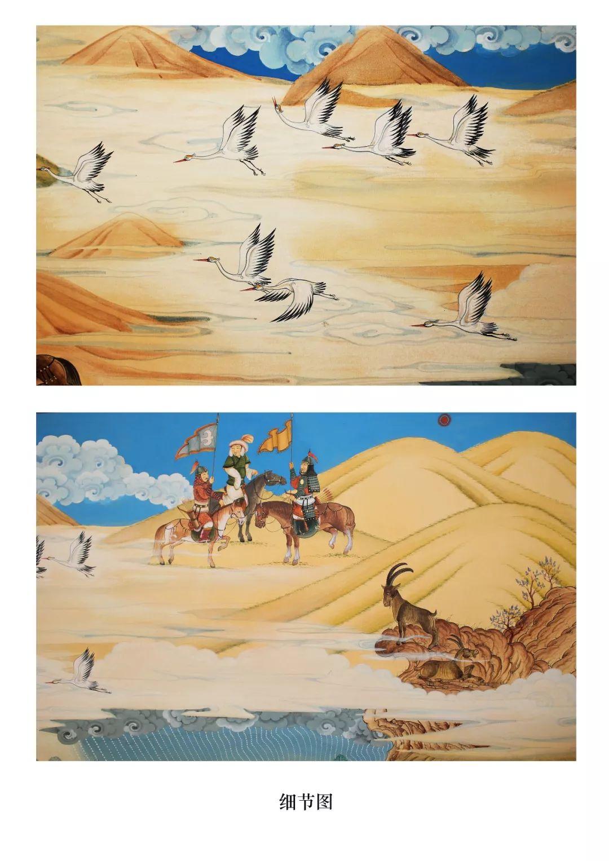 蒙古画《德都蒙古风情》一 第7张