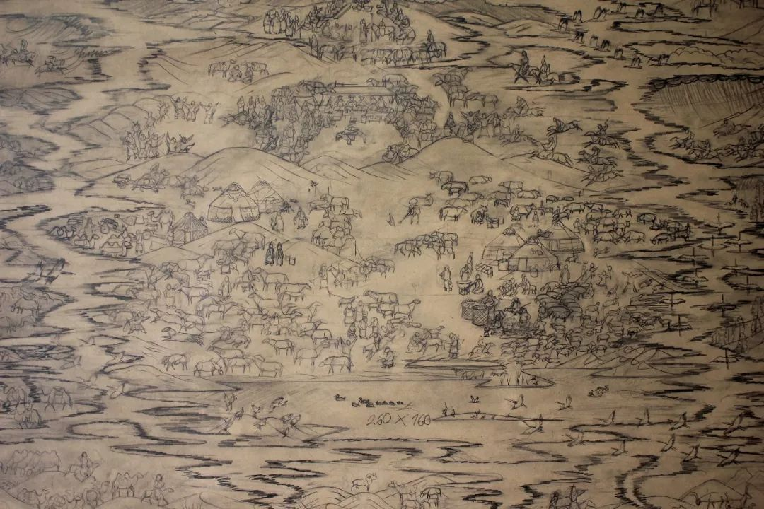 蒙古画《德都蒙古风情》一 第9张