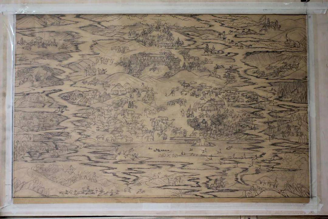 蒙古画《德都蒙古风情》一 第12张