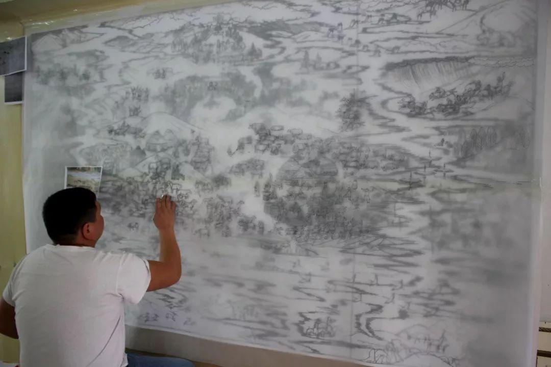 蒙古画《德都蒙古风情》一 第14张