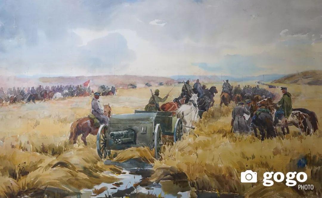 蒙古国经典油画作品欣赏,时代的记忆 第2张