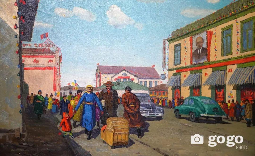 蒙古国经典油画作品欣赏,时代的记忆 第1张
