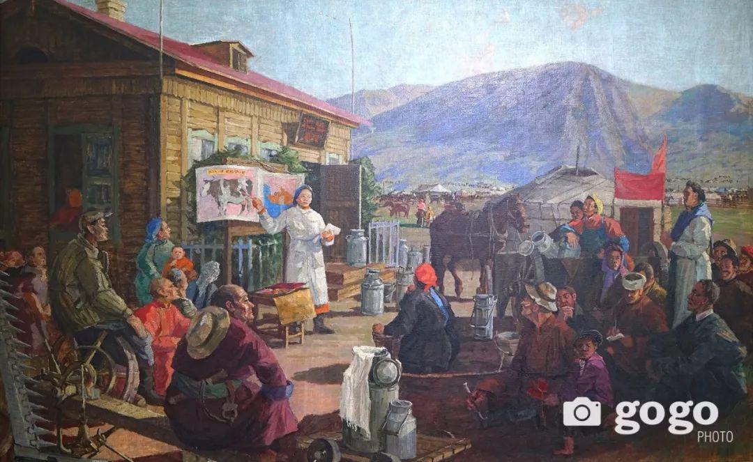 蒙古国经典油画作品欣赏,时代的记忆 第9张