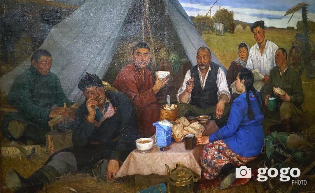 蒙古国经典油画作品欣赏,时代的记忆 第12张