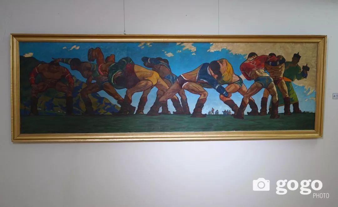 蒙古国经典油画作品欣赏,时代的记忆 第13张