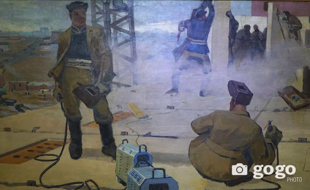 蒙古国经典油画作品欣赏,时代的记忆 第17张