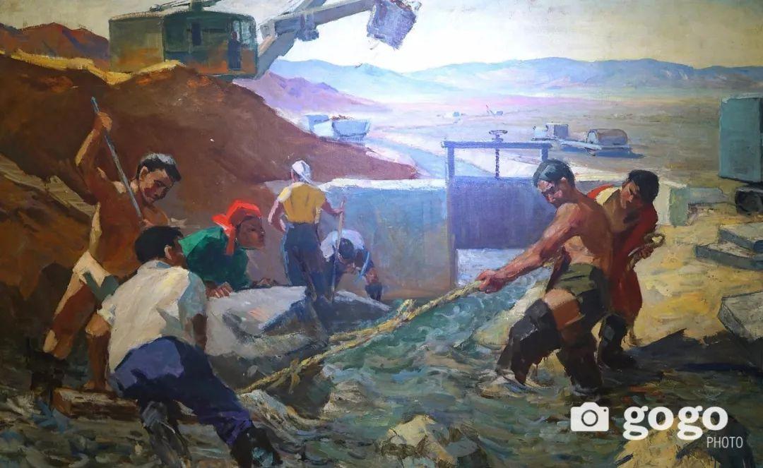 蒙古国经典油画作品欣赏,时代的记忆 第15张
